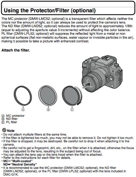 Using filters, as documented on page 130 of the G1 manual