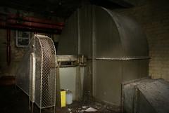 The air conditioning turbine in the Cornet Cinema.