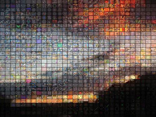 sunset arizona sky abstract nature phoenix collage clouds digital computer landscape mosaic mashup fractal psychedelic visualmashup marqlaube qthomasbower