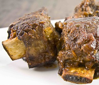 Slow cooked BBQ short ribs