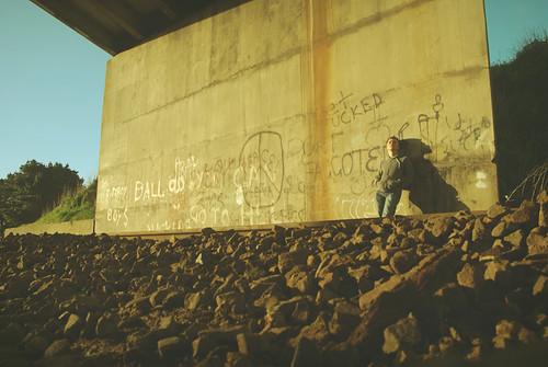 bridge sunset shadow portrait sky urban simon grass train self vintage portland graffiti rust rocks track stones decay sony australia victoria retro dirt abandonded faux grime a100 unused greening simongreening