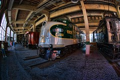 Southern E-8 at the NC Transportation Museum in HDR thru the Fisheye
