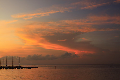 blue sunset sky orange water clouds alabama fairhope mobilebay canoneos50d michaelrollins