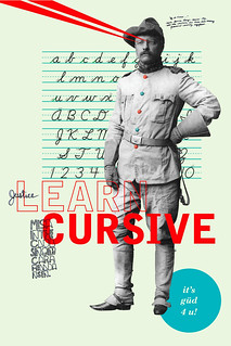 Teddy Says Learn Cursive
