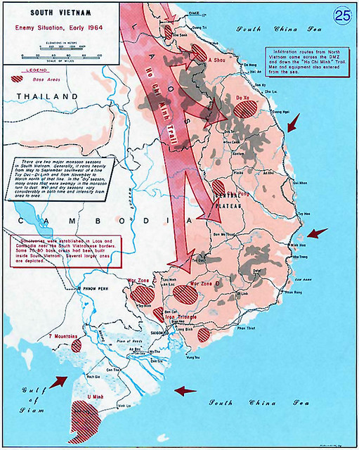 Ho Chi Minh Trail - North VN Communist Infiltration Routes
