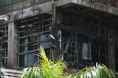 Ruins of Central World in Bangkok, Thailand, in May 2010