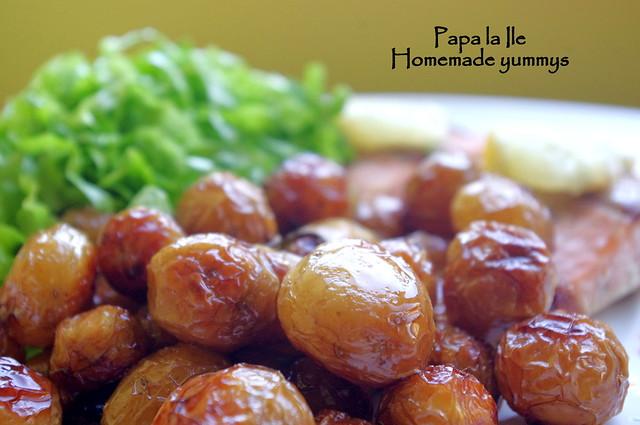 Somon la cuptor, cartofi cu rozmarin si salata (5)
