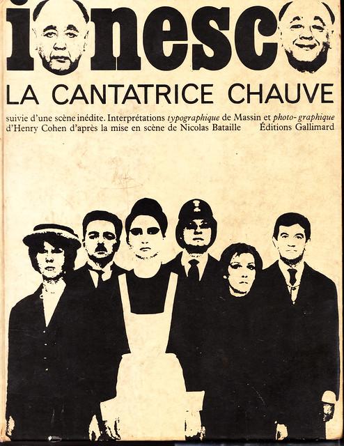 Eugene Ionesco - La cantatrice Chauve - Gallimard 1964