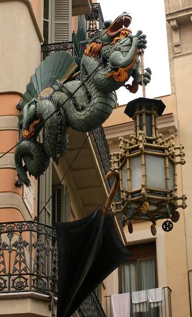 Art deco dragon at the placa de la boqueria flickr - Art deco barcelona ...