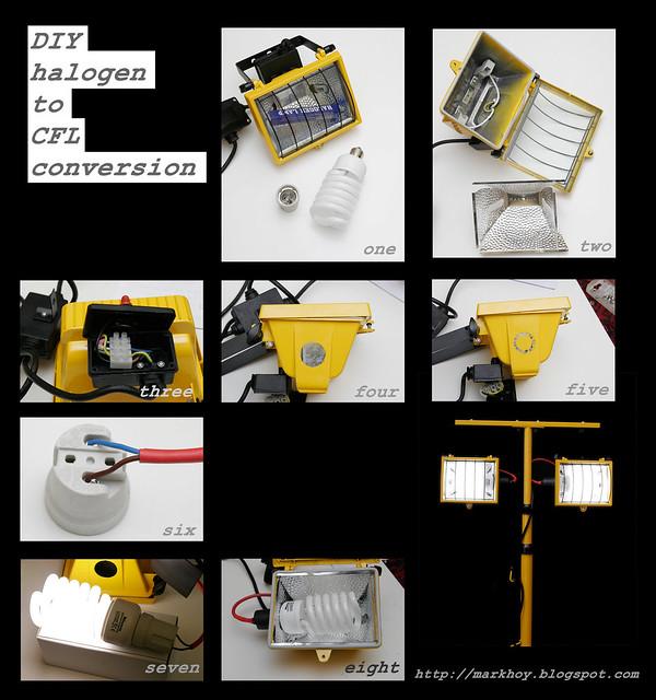 DIY Halogen to CFL conversion