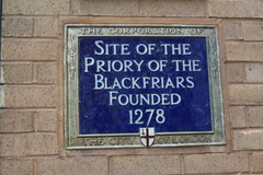 Photo of Priory of the Blackfriars blue plaque