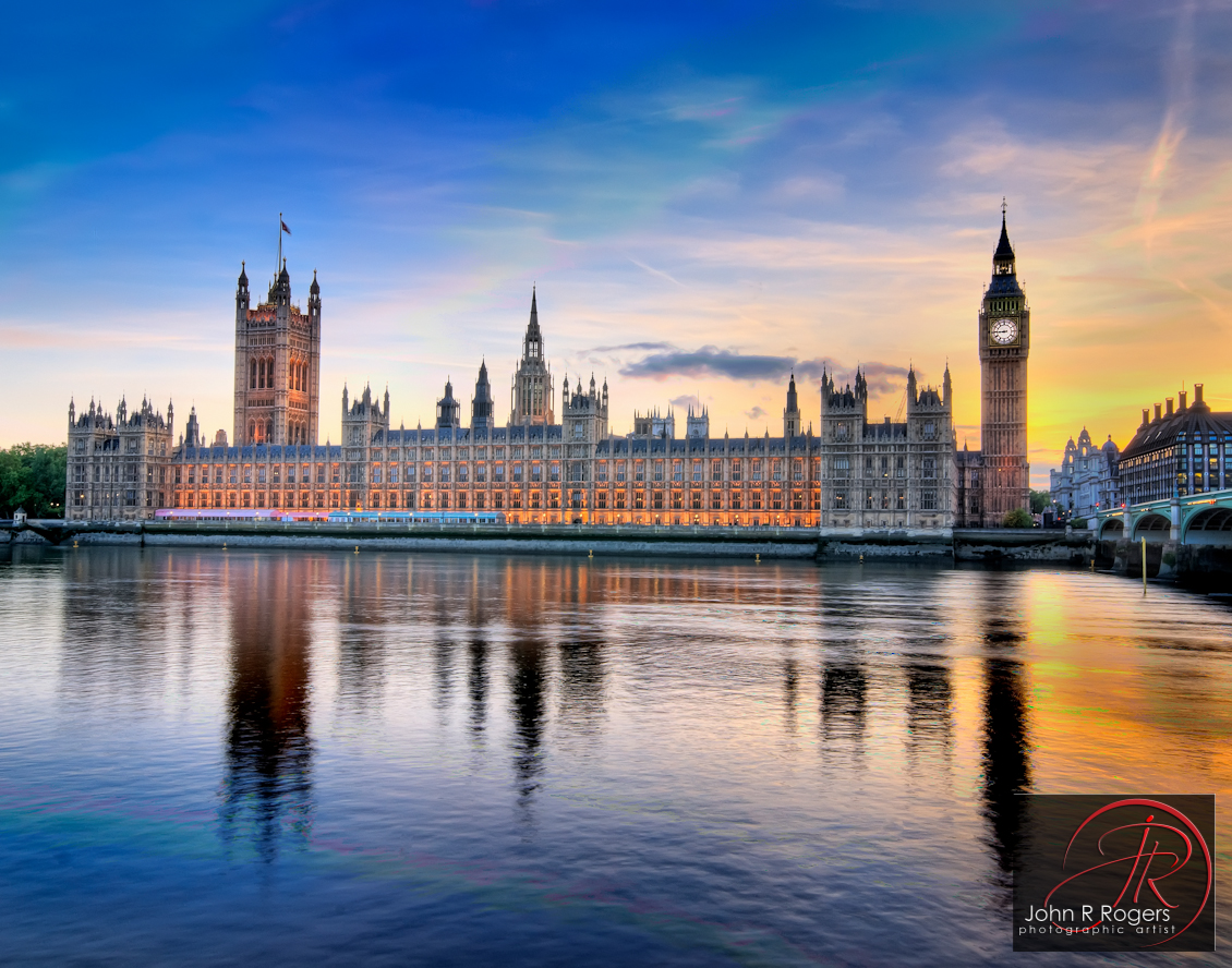 British House of Commons across the Thames