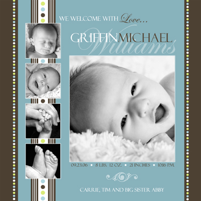 Baby Birth Announcement Photoshop Templates Volume 1 a photo on – Free Birth Announcement Templates Photoshop