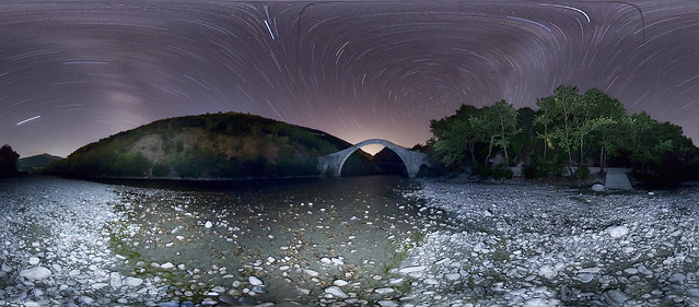 river, bridge, star, trail