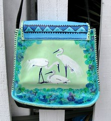 White Heron Purse, back by pennylrichardsca (now at ipernity)