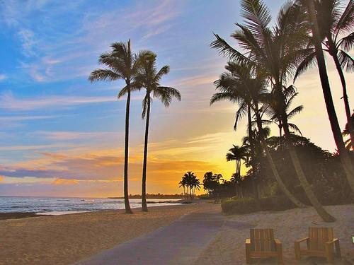 fourseasons resort hotel hualalai kaupulehu kona bigisland hawaii usa sunrise