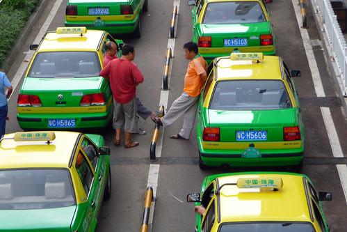 Taxi Queue Zhuhai Port China