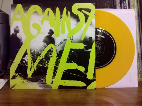 "Against Me - Russian Spies 7"" - Yellow Vinyl /504"