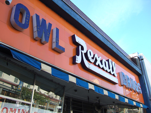 Rexall Drugs defunct drug store sign