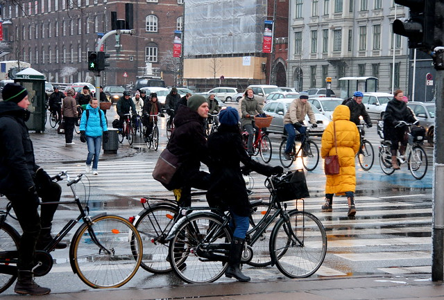 SnowFall RushHour - Cycling in Winter in Copenhagen