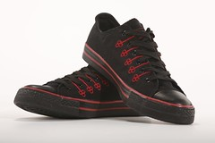 cross training shoe(0.0), magenta(0.0), brown(0.0), nike free(0.0), leather(0.0), athletic shoe(0.0), brand(0.0), outdoor shoe(1.0), textile(1.0), sneakers(1.0), footwear(1.0), shoe(1.0), maroon(1.0), skate shoe(1.0), black(1.0),