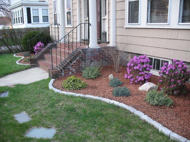 New flower bed stone border flickr photo sharing for Flower bed border stone