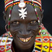 Smiling El Molo woman with beaded ornaments - Kenya