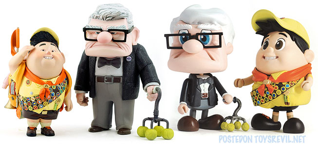 Toys For 4 And Up : Disney pixar s up vinyl collectibles cosbaby by hot toys
