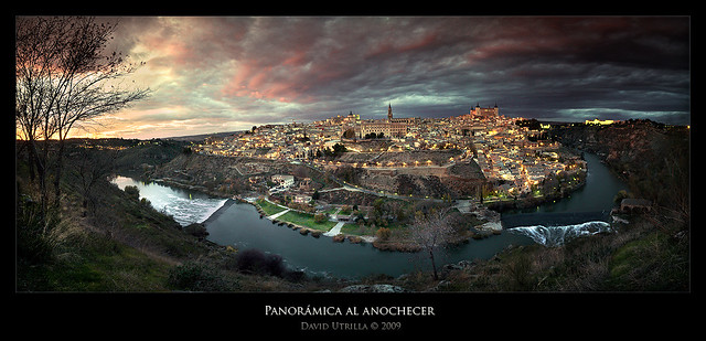 Panorámica al anochecer