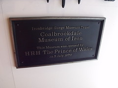 Photo of Coalbrookdale Museum of Iron and Charles bronze plaque