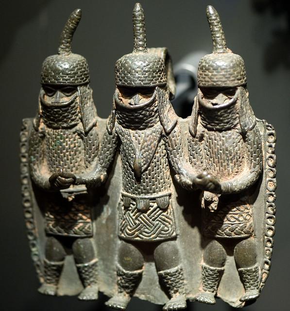 three african warriors (Volkenkunde leiden)