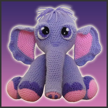 Amigurumi Heart Elephant - Crochet Me