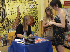 author signing in a bookstore