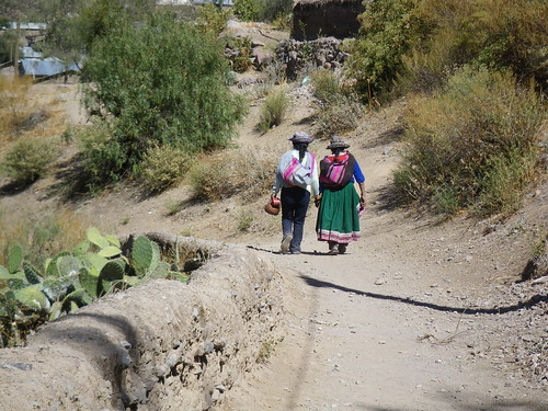 Female Friends in Colca Canyon, Peru
