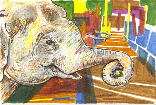 """Hungry Elephants,"" art by Todd Berman"