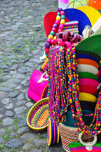 Classic mexican colors at the Bazaar del Sabado