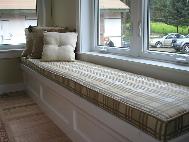 Window Seat In Checker Street Custom Bench Cushion In