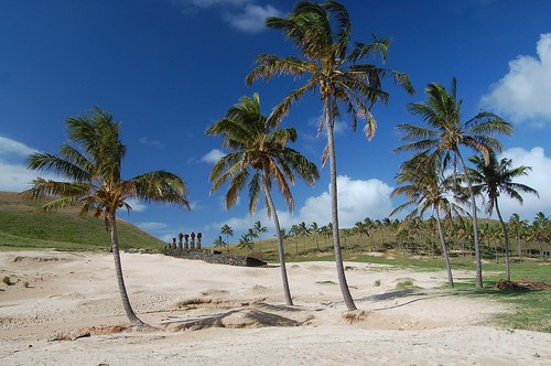 Easter Islands Anakena beach
