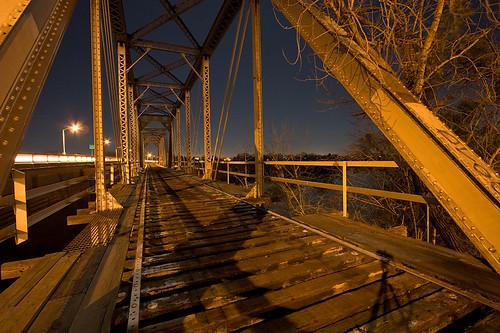 railroad trestle bridge shadow abandoned night train river long exposure feather railway marysville span yubacity artificiallight truss yuba 90seconds 840pm 50604yubabridge