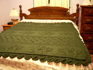 tree of life afghan on bed