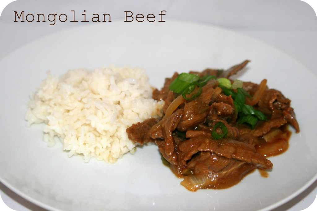 Mongolian beef (Home-made)
