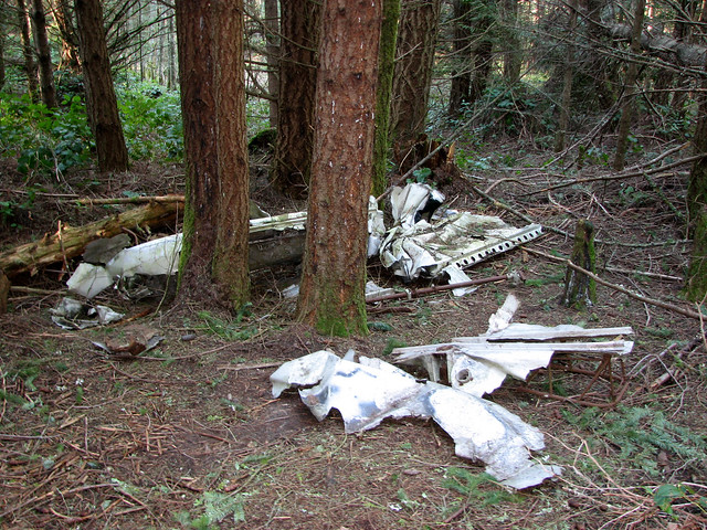Wreckage from Plane Crash