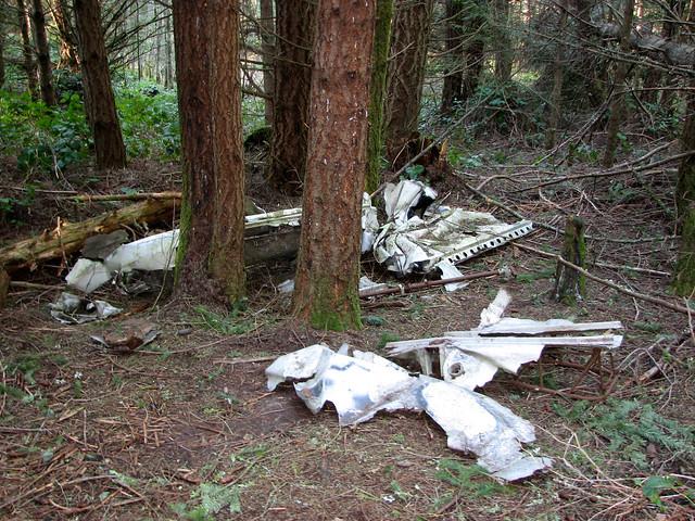 Wreckage from Plane Crash