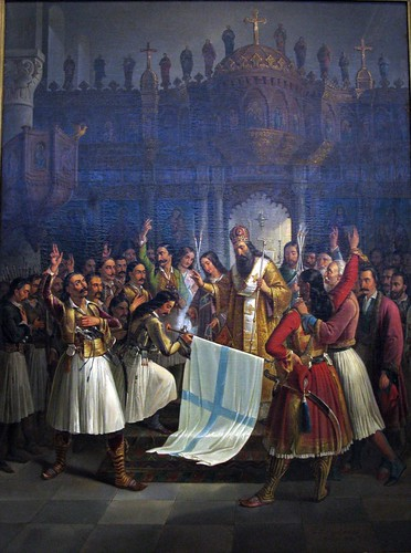 """The Bishop of Old Patras Germanos Blesses the Flag of the Greek War of Independence"" (1865) - Theodoros Vryzakis"