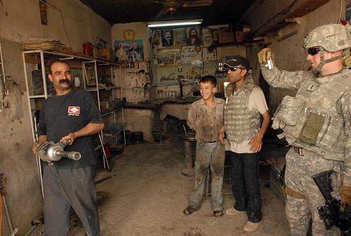 Iraqi automotive repair shop