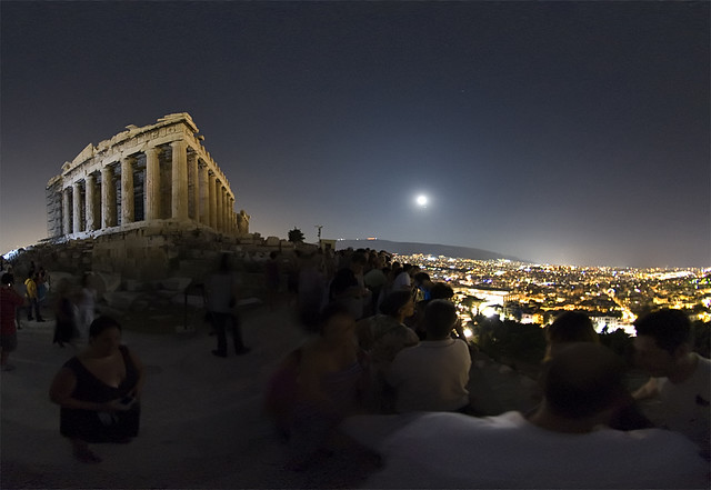 acropolis august full moon