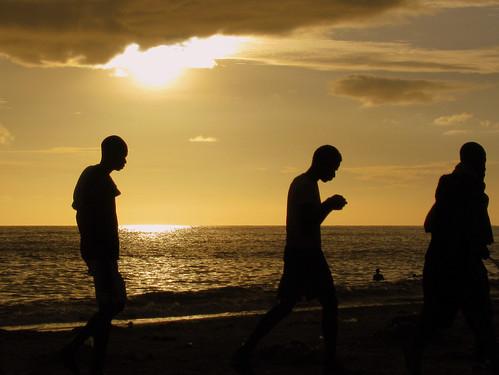 sunset sea cloud sun beach silhouette senegal mbour sen7
