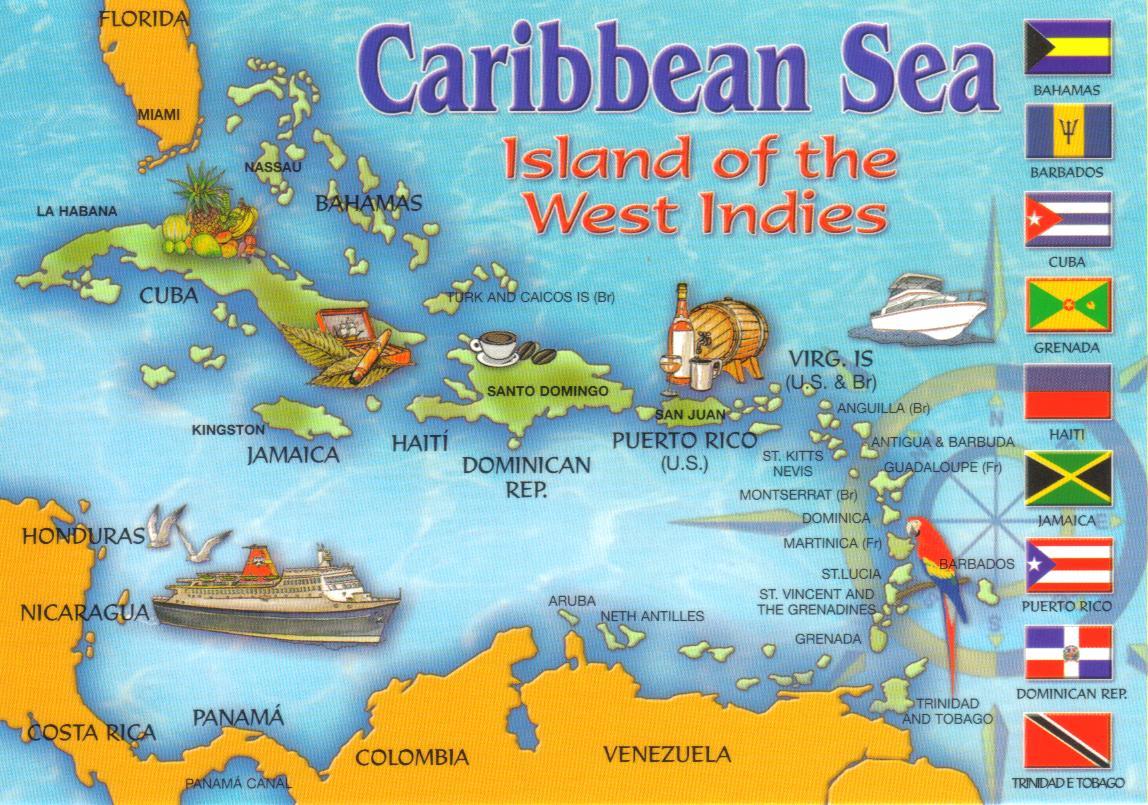 caribbean island postcard wallpaper - photo #12