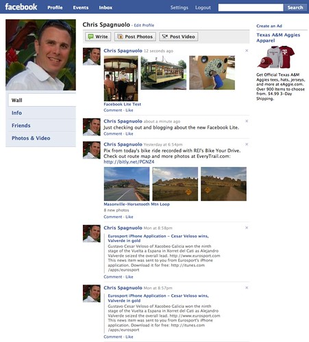 The Lite Profile Pages | Facebook Lite's simple profile page… | Flickr