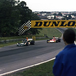 Hans Stuck and Clay Regazzoni coming into Druids